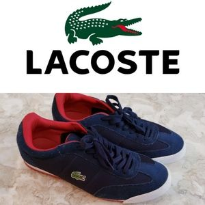 Lacoste Mens Suede Navy Blue Sneakers